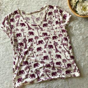 Loft Elephant Maroon Tee